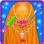 Braided Hairstyles Girls Games Icon