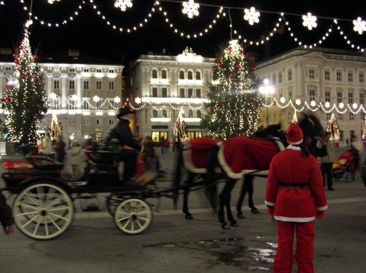 Natale romantico a Trieste di ovatta