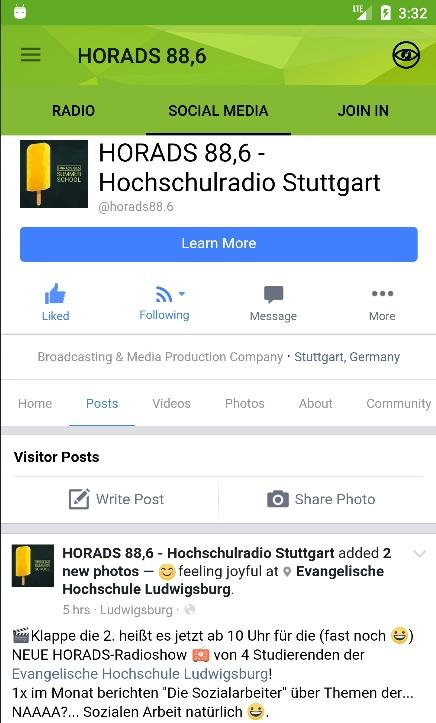 HORADS 88,6 App- screenshot