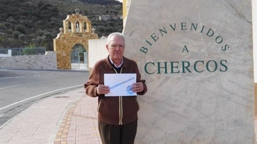 José Antonio Torres lleva 24 años como alcalde de Chercos.