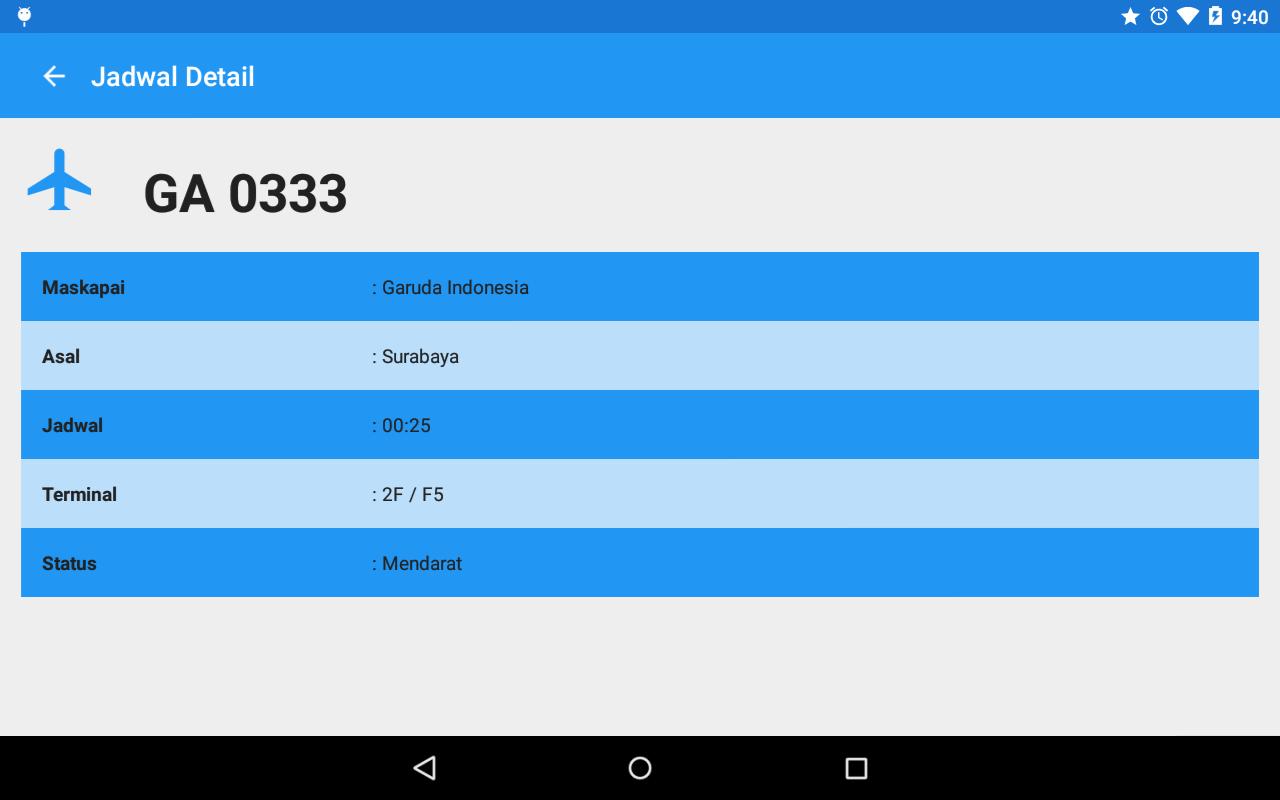 Jadwal Penerbangan Screenshot