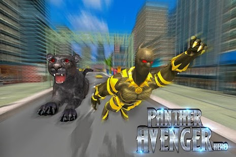 Superhero Panther Flying City Survival - náhled
