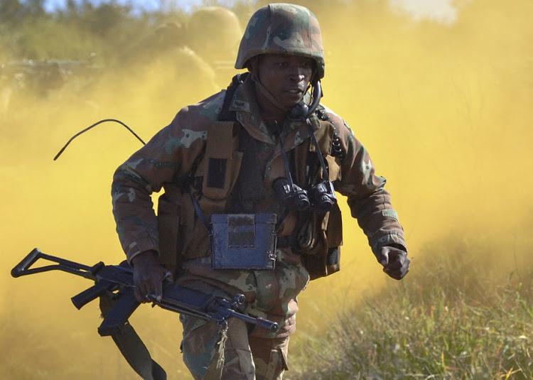 A soldier with the 9th South African Infantry Battalion during a biennial training exercise with the US military in the Eastern Cape. Picture: US ARMY