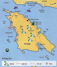Photo: carte de Koh Chang