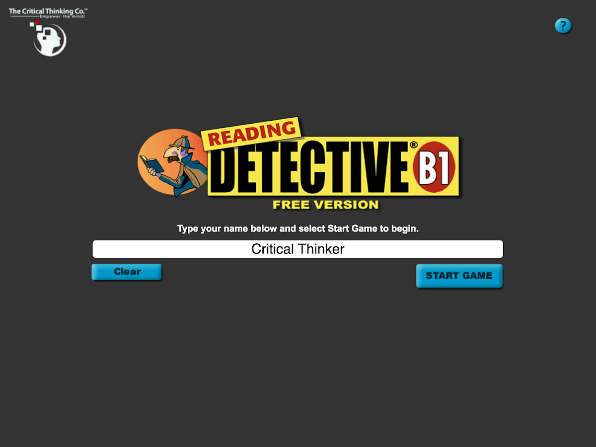 Reading Detective   A  screenshot