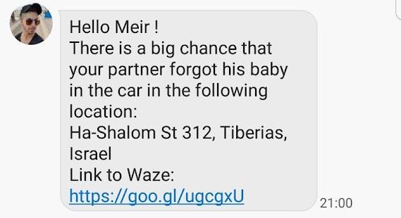 BABY - in car alert - náhled