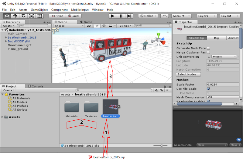 Sketchup in unity