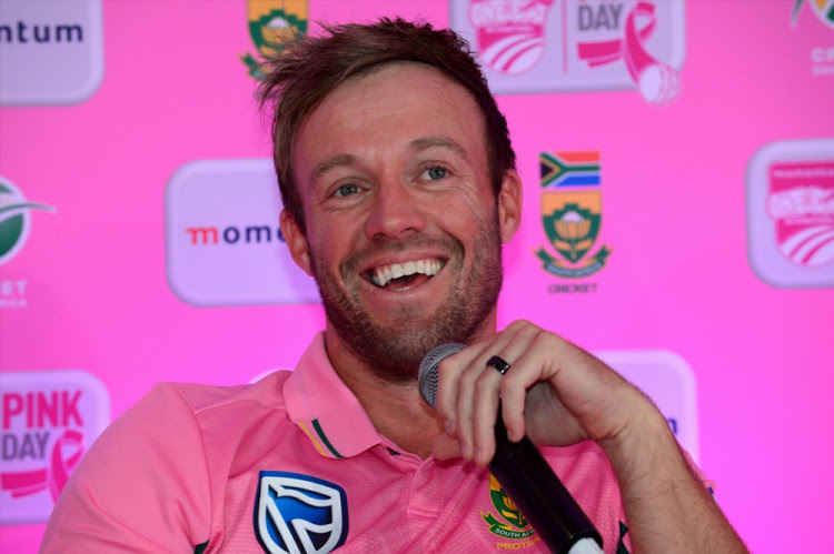 AB de Villiers during the Momentum ODI Pink Day Launch at Bidvest Wanderers on January 18, 2018 in Johannesburg.  Image: Lee Warren/Gallo Images