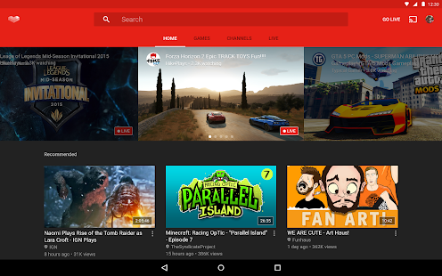 YouTube Gaming – Miniaturansicht des Screenshots