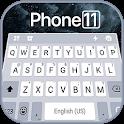 Silver Phone 11 Pro Keyboard Theme icon