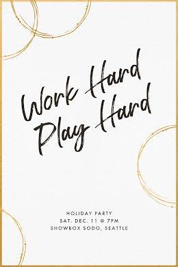 Work Hard & Play Hard - Postcard item