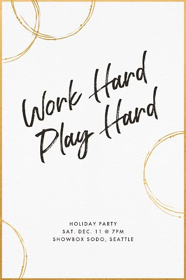 Work Hard & Play Hard - Christmas Template