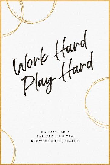 Work Hard & Play Hard - Christmas template