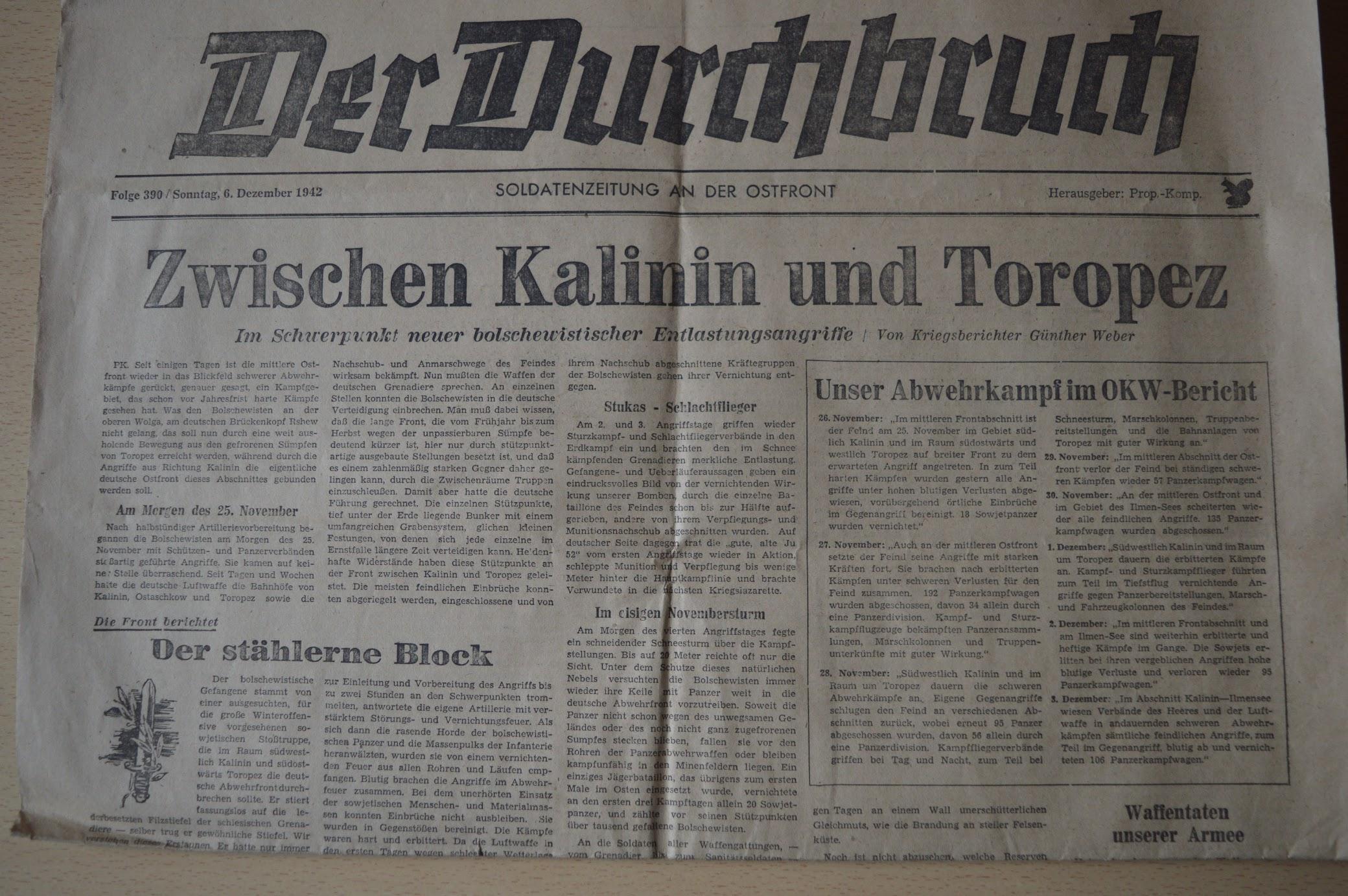 Soldatenzeitungen 1942 bis 1944