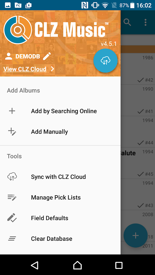 CLZ Music - Music Database- screenshot