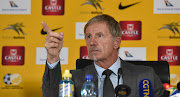 Stuart Baxter head coach of South Africa during the South Africa Senior Mens Team Announcement on the 11 March 2019 at SAFA House.