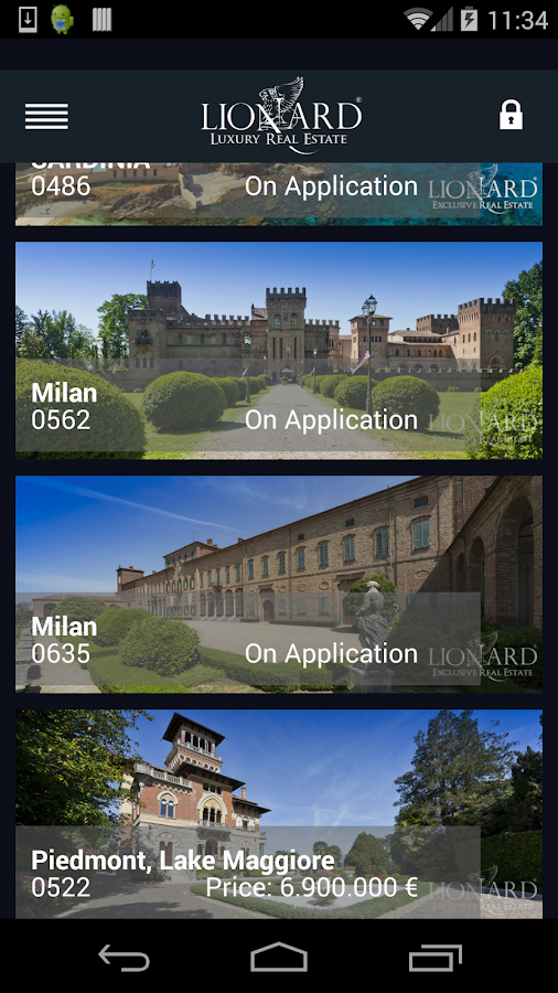 Lionard Luxury Real Estate- screenshot