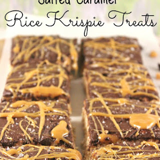 Salted Caramel Rice Krispie Treats Recipe