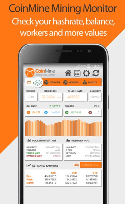 CoinMine Multipool Mining Monitor