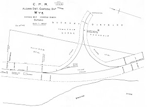 Photo: CPR map of Wye, 1930 (MNR)