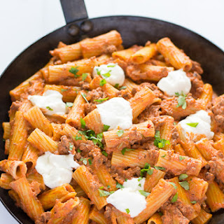 Ricotta Pasta with Beef.