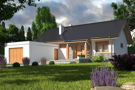projekt Gąska II z garażem 1-st. A