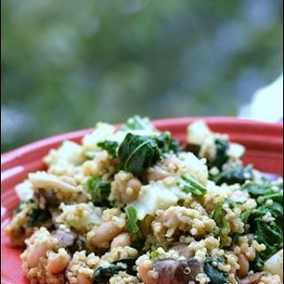 """Cheesy"" Vegan Mushroom Quinoa."
