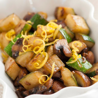 Zucchini and Mushrooms in a Lemon Butter Sauce.