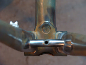 Photo: Mitering this chainstay bridge with the assymetrical chainstays was interesing.