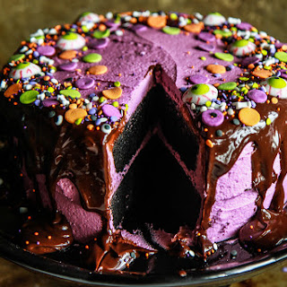 Black Velvet Halloween Cake- Gluten Free and Vegan