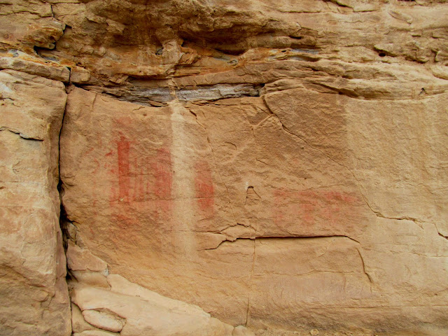 More pictographs on the way back to camp