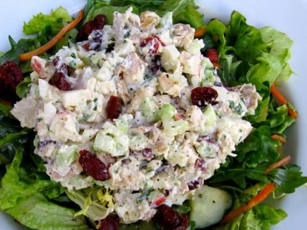 Healthy Chicken Salad With Apples Cranberries