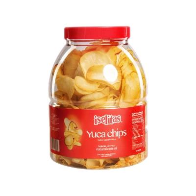 snack iselitas yuca chips con sal 400gr