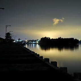 Tanjung Limau Village by Haryadi Djojotaruno - City,  Street & Park  Vistas ( dermaga, kalimantan timur, tanjung limau, harbour, pelabuhan, bontang )