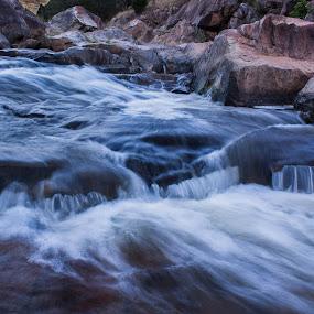 Adelong Falls by Daniel Wheeler - Landscapes Waterscapes ( water, creek, falls, long exposure, rocks, river )
