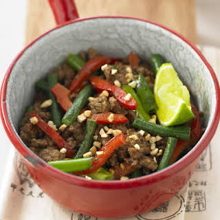 Chili Garlic Beef with Chinese Long Beans.