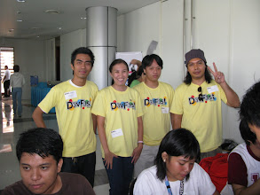 Photo: Me with GTUG Philippines managers, Pogz, Jomar and Brian.
