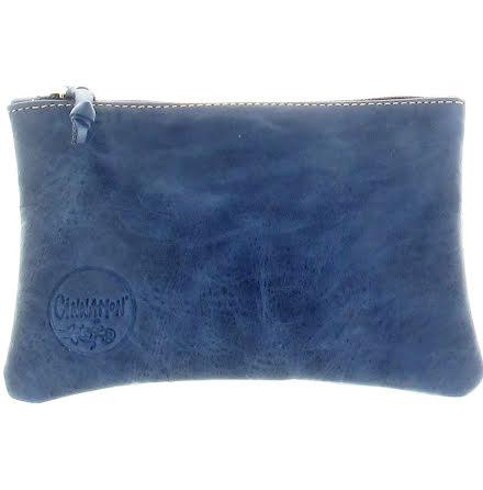 Mini väska marin i skinn med kreditkortsficka