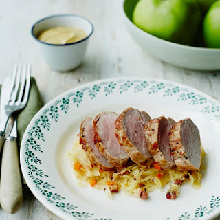 Valentine Warner's Pork Loin With Bramley Sauerkraut
