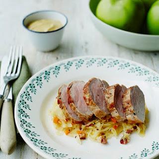 Valentine Warner's Pork Loin With Bramley Sauerkraut