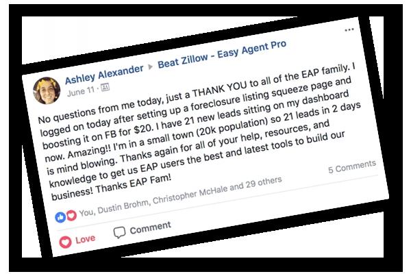 Easy Agent Pro Testimonial 1