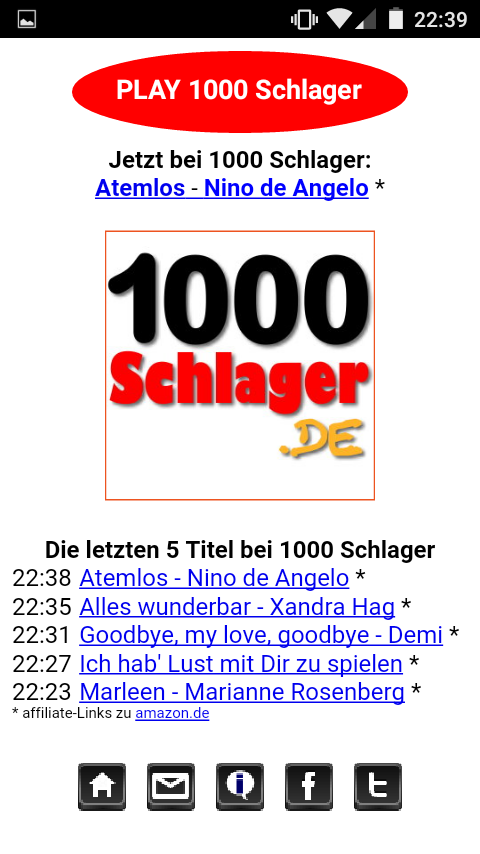 1000 Schlager Player- screenshot