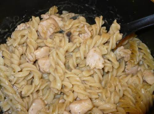 "Easy Delish Creamy Chicken Noodle Soup""I made this tonight because we all..."