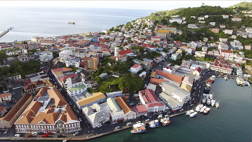 grenada.png - Drone footage of the marina at St. George's, capital of Grenada.