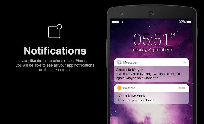 Lock Screen IOS 10 style - screenshot