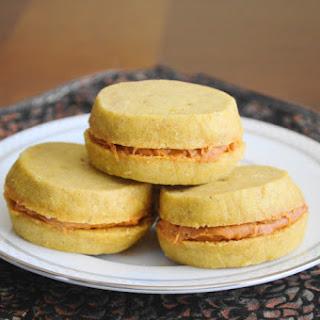 Pumpkin Shortbread Sandwich Cookies