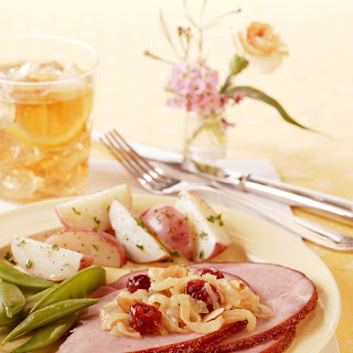 Glazed Ham with Dried Cherry Caramelized Onions Recipe
