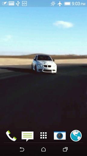 車の3Dビデオの壁紙