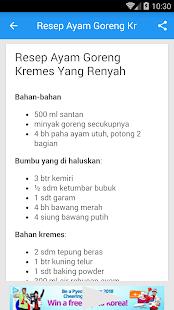 Resep Ayam Goreng Kremes - náhled
