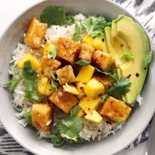 Mango Coconut Tofu Bowls.